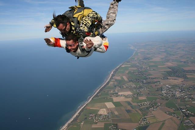 прыжок с инструктором