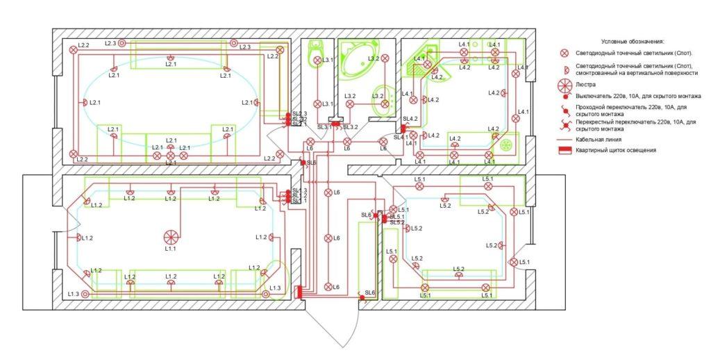 проект освещения квартиры