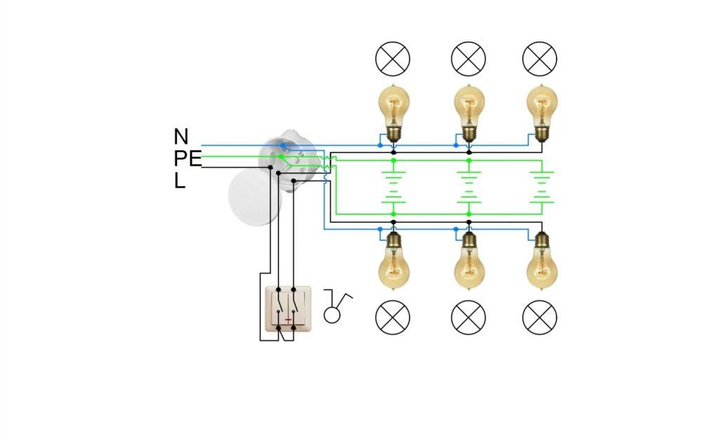 Подключение светильников к сети