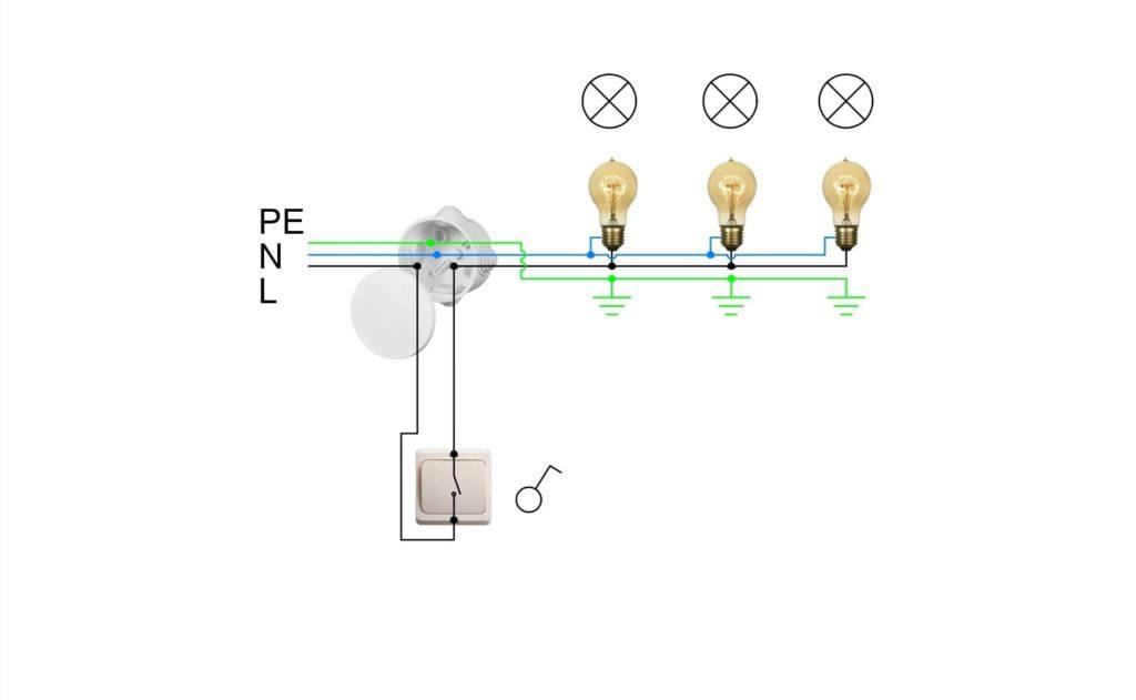 схемы подключения светильников