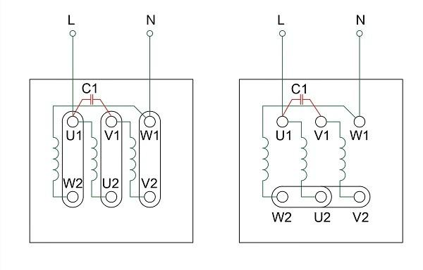 Подключение трехфазного асинхронного двигателя