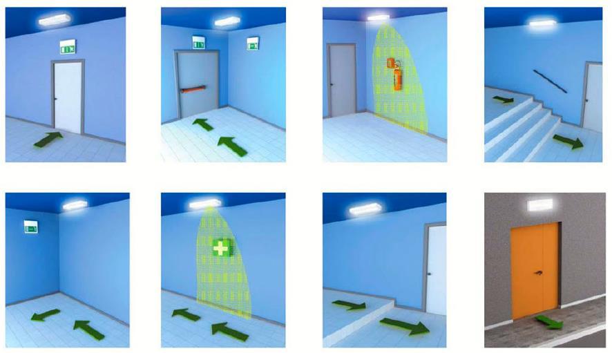 Аварийное освещение в помещениях.